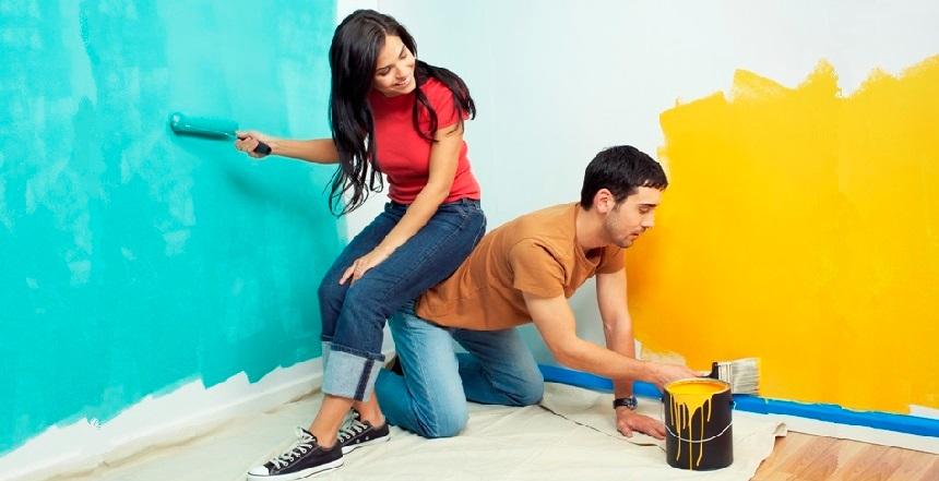 Правила покраски стен своими руками