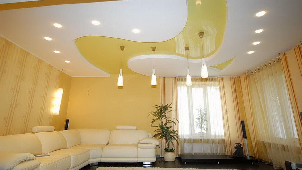 Проверка качества монтажа натяжного потолка. Красивый натяжной потолок