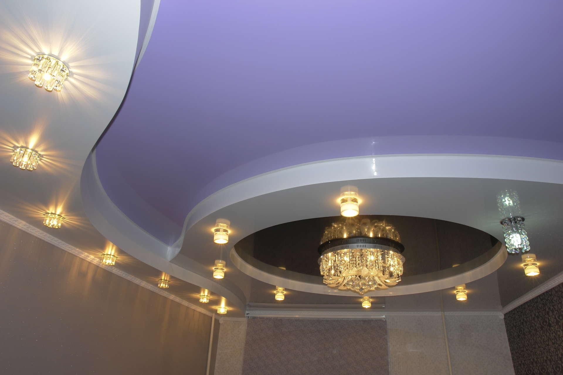 Проверка качества натяжного потолка. Красивый потолок