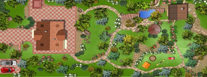Первый этап - составление плана садового участка