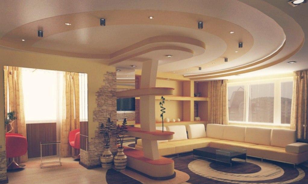 Потолки из гипсокартона в стиле романтизма