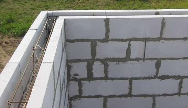 Армопояс газобетонных стен