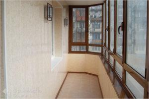 Балкон с холодным остеклением