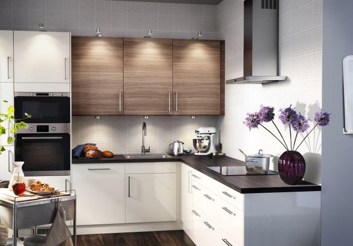 Дизайн маленькой кухни. Светильники