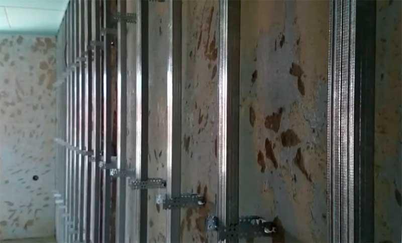Каркасная облицовка стен гипсокартоном
