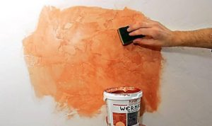 Методы декорирования стен краской. Размывка