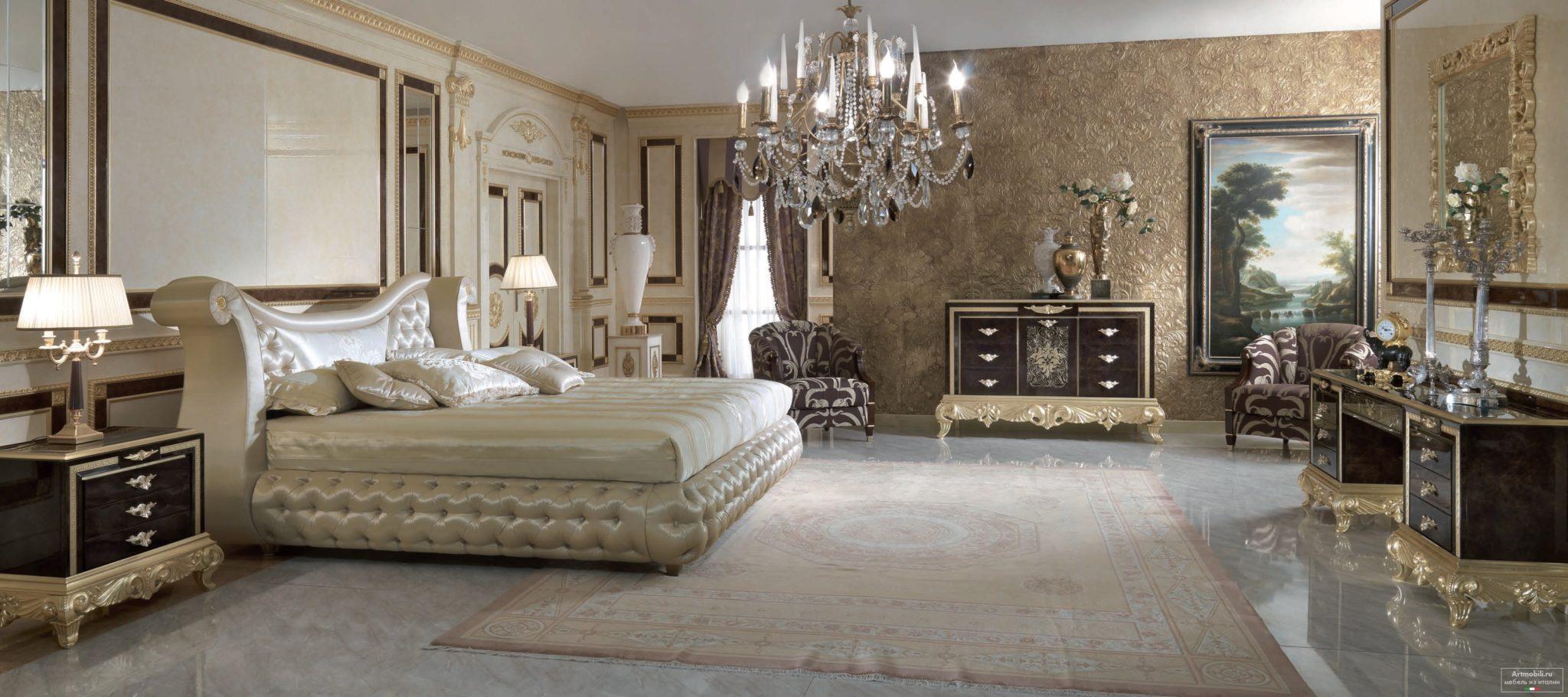 Дизайн интерьера. Дизайн спальни. Роскошная спальня