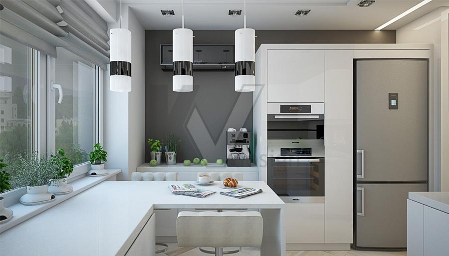 Дизайн кухни серого цвета. Светлые оттенки серого цвета в интерьере кухни