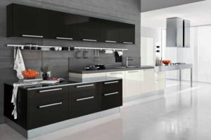 Дизайн кухни. Серый цвет в оформлении кухни