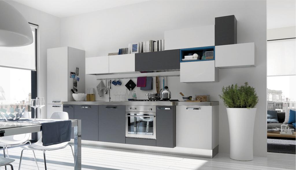 Серый цвет в оформлении кухни