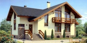 Фасад дома оштукатурен силиконовой штукатуркой