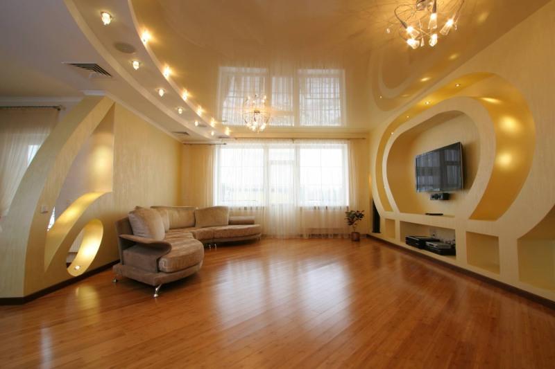 Глянцевый, матовый или сатиновый натяжной потолок