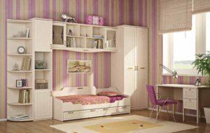 Интерьер для спальни девочки. Фото