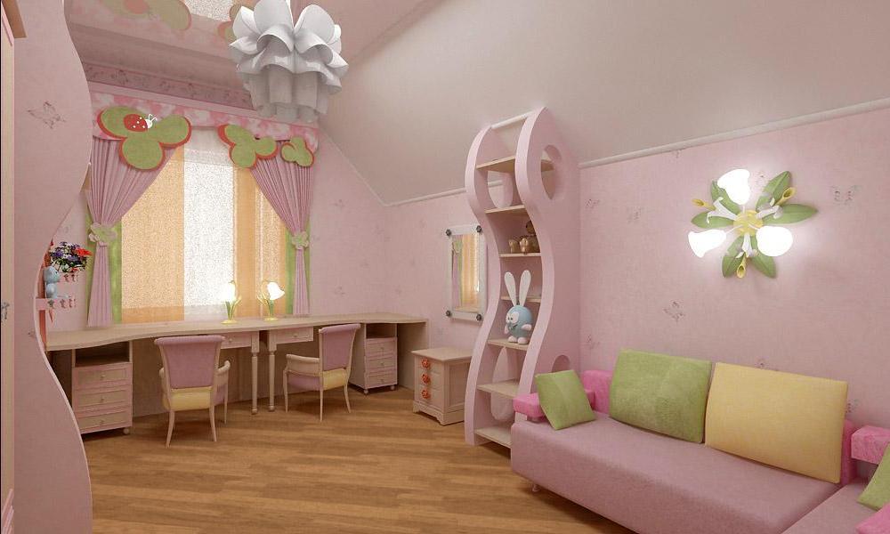 Интерьер для спальни девочки