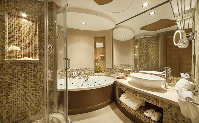 Мозаика в дизайне ванной комнаты