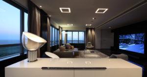 Потолки из гипсокартона в стиле хай-тек