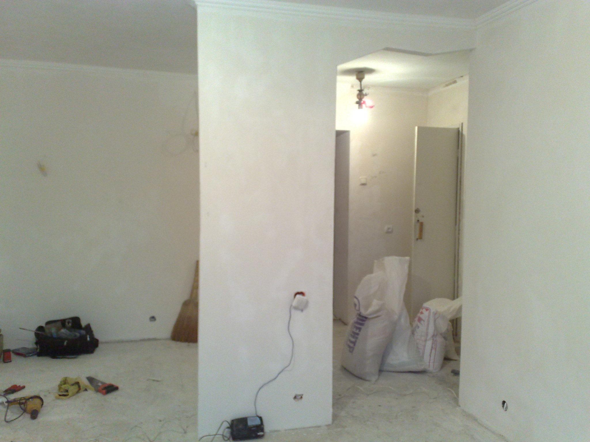 Технология выравнивания стен с помощью гипсокартона