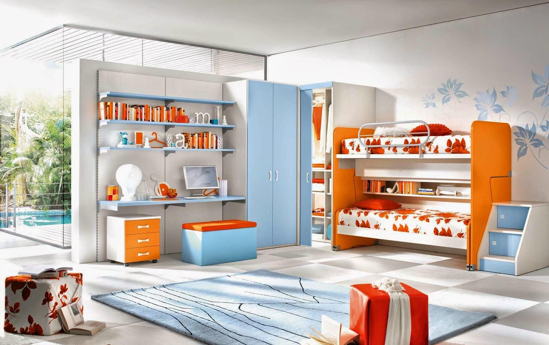 Яркие оттенки детской комнаты