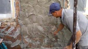 Наброс раствора на стены