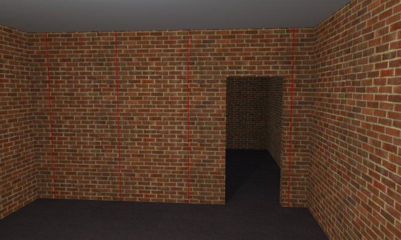 Разметка кирпичной стены под маяки