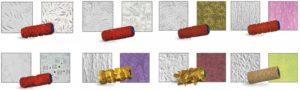 Валики для нанесения штукатурки с узорами